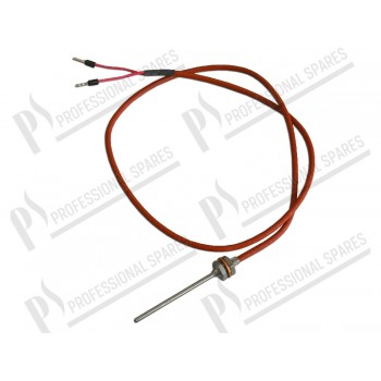 Temperature probe PT1000     Bulb Ø 3x60 mm, thread M10 with nut, silicon cable L=700 mm